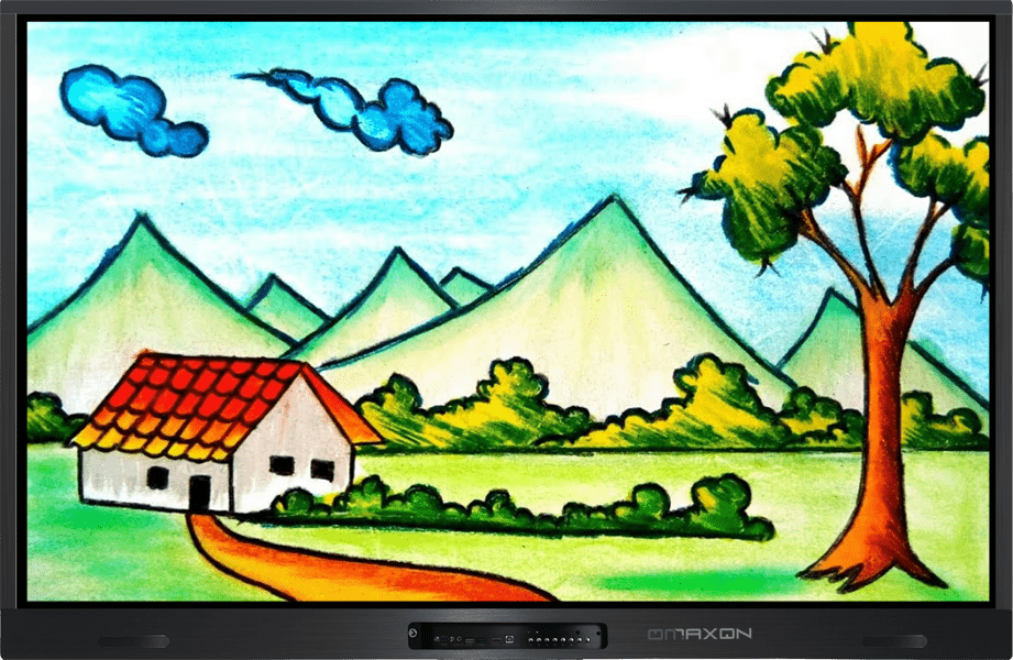 OMAXON Interactive Flat Panel Kids Drawing on White Teachers Board Software-min