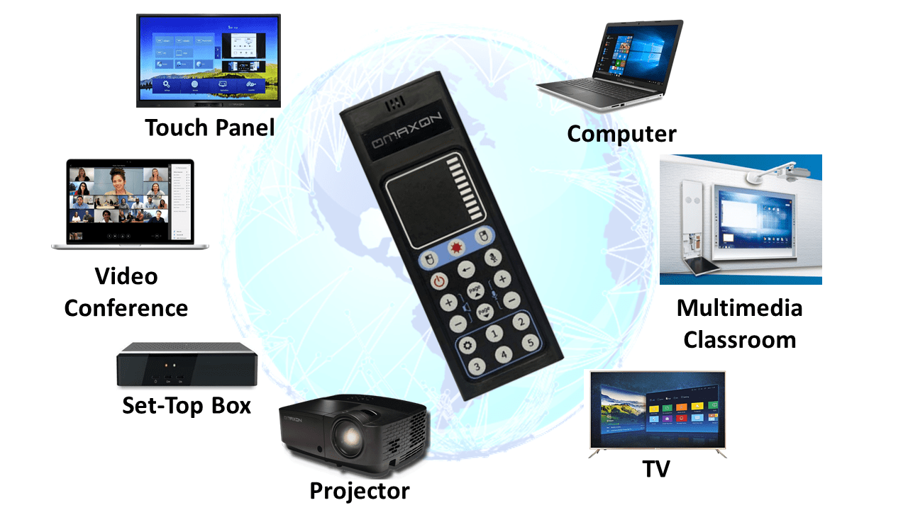OMAXON OM+ Global Remote Control for TV Projector ActivPanel Computer Set Top BOX -min